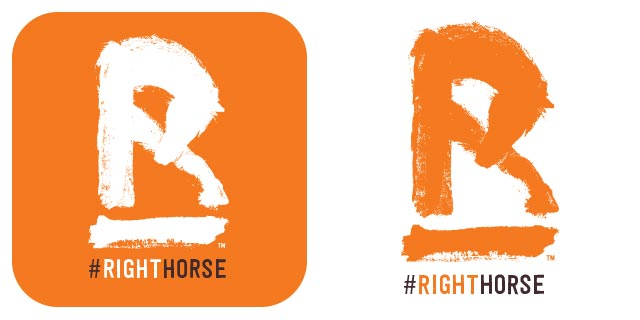 The Right Horse Social Badge 04