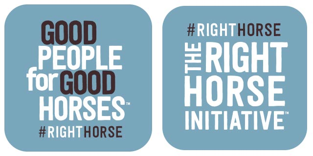 The Right Horse Social Badge 01